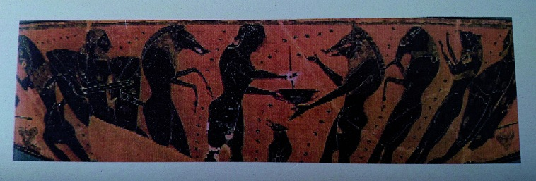 ©2016 B.CARMONA ITHA31 Circe transforms his companions into animals while Odysseus approaches threatening with his sword Circe 550 B.C.